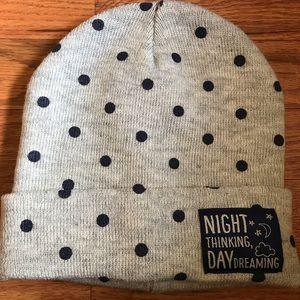 """night thinking, day dreaming"" beanie"